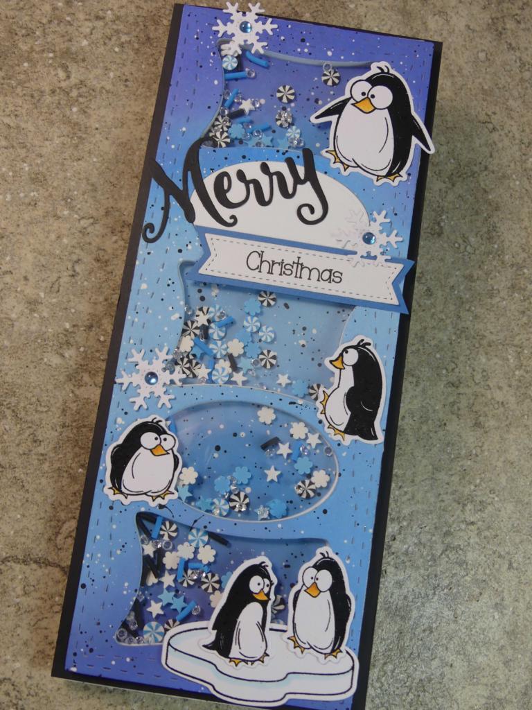 Penguin Christmas Shaker Card